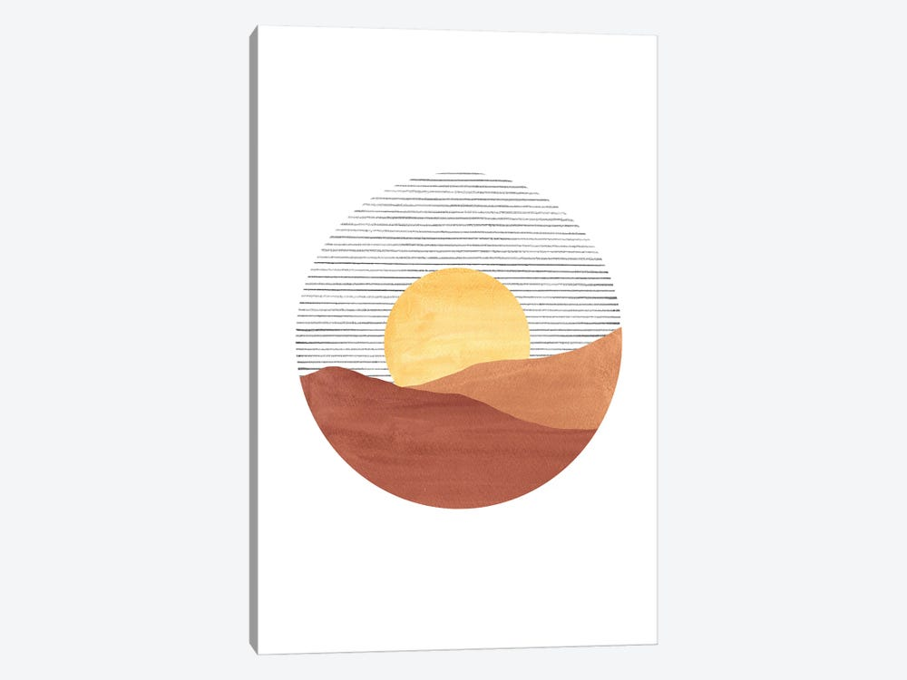 Abstract Sunset by Whales Way 1-piece Art Print