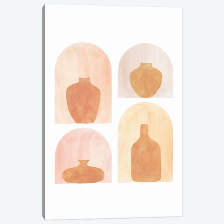 Abstract Terracotta Vases Canvas Print #WWY94} by Whales Way Canvas Artwork