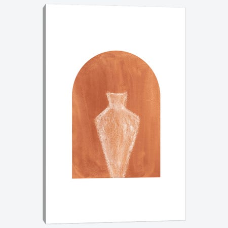Terracotta Arch And Vase Canvas Print #WWY96} by Whales Way Canvas Artwork