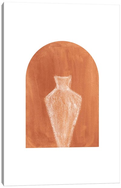 Terracotta Arch And Vase Canvas Art Print
