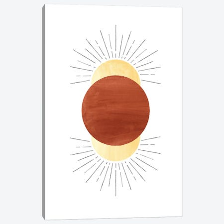 Terracotta Sun Canvas Print #WWY97} by Whales Way Canvas Artwork