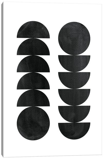 Black Shapes Canvas Art Print