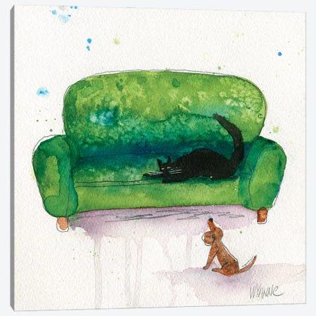 The Waiting Game Canvas Print #WYA100} by Wyanne Art Print