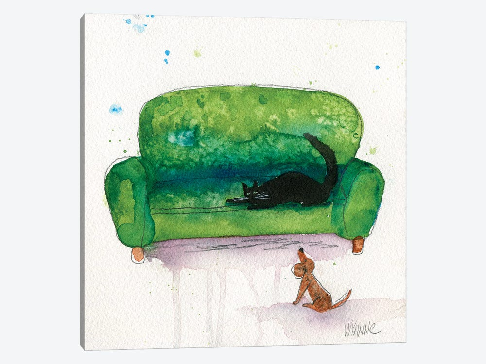 The Waiting Game by Wyanne 1-piece Canvas Art Print