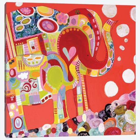 Two Elephants Canvas Print #WYA104} by Wyanne Canvas Wall Art