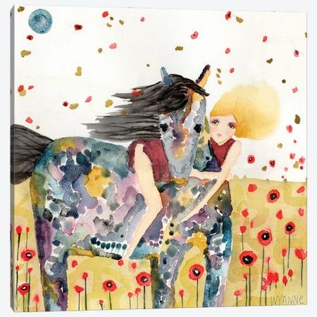 Wind In The Poppy Field Canvas Print #WYA106} by Wyanne Canvas Art