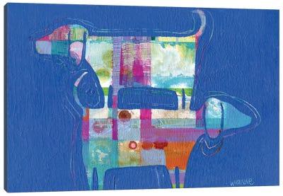 Double Wags Double Fun Canvas Print #WYA13