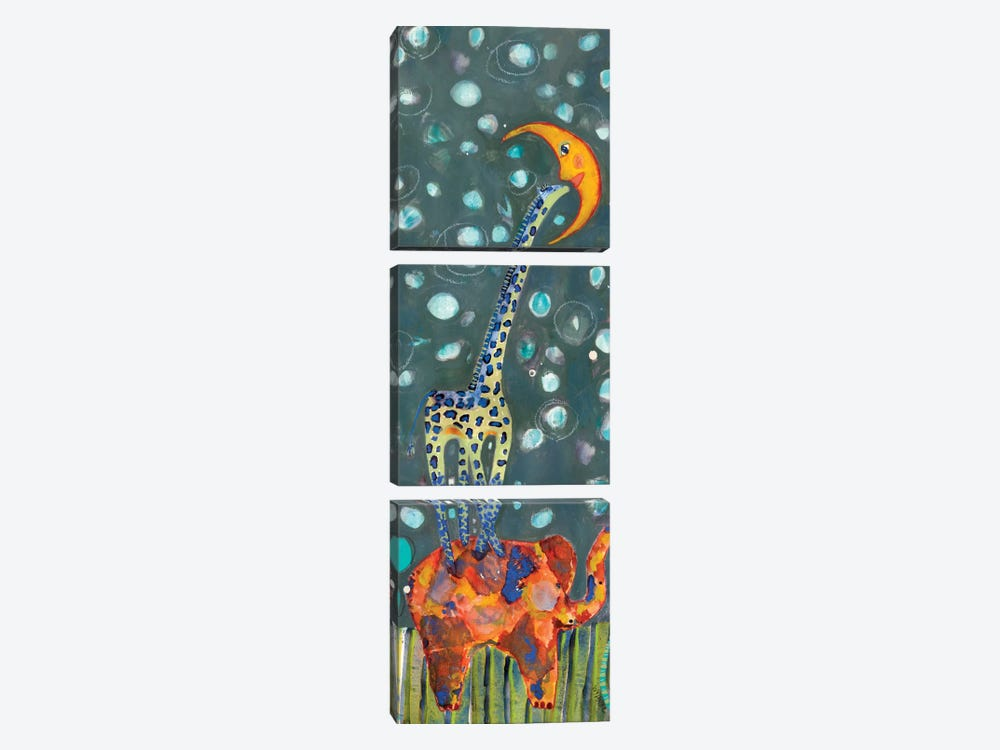 Kiss The Moon by Wyanne 3-piece Canvas Wall Art