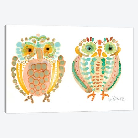 Wise Owls Canvas Print #WYA37} by Wyanne Canvas Print