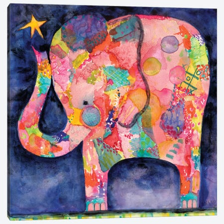 All Within Reach Elephant Canvas Print #WYA3} by Wyanne Art Print