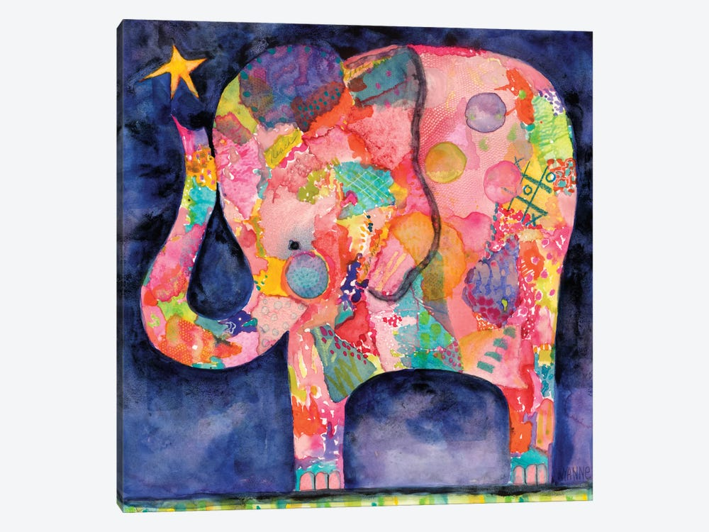 All Within Reach Elephant by Wyanne 1-piece Canvas Artwork