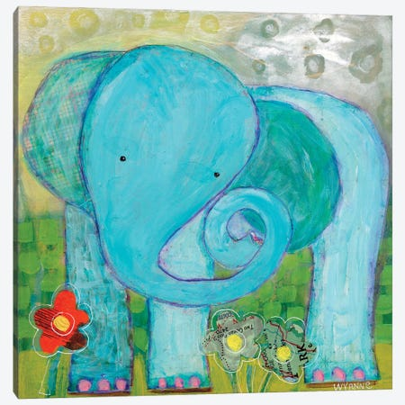 All Is Well Elephant Canvas Print #WYA41} by Wyanne Canvas Print