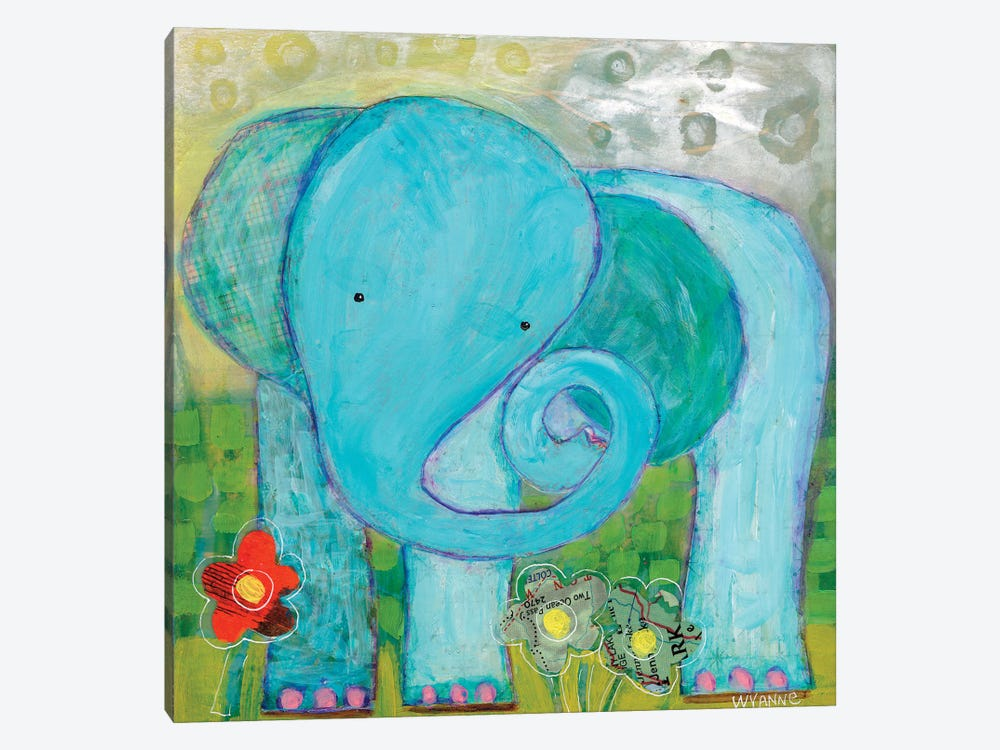All Is Well Elephant by Wyanne 1-piece Canvas Art Print
