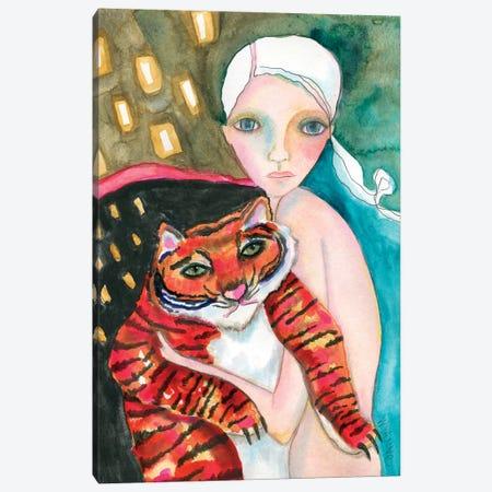 Bad Kitty Canvas Print #WYA44} by Wyanne Canvas Art