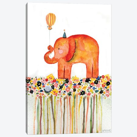 Big Day Elephant Canvas Print #WYA45} by Wyanne Canvas Wall Art