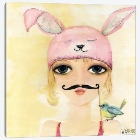 Big Eyed Girl Be Yourself Canvas Print #WYA47} by Wyanne Canvas Artwork