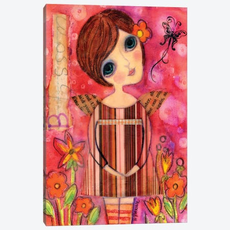 Big Eyed Girl Blossom Fairy Canvas Print #WYA48} by Wyanne Art Print