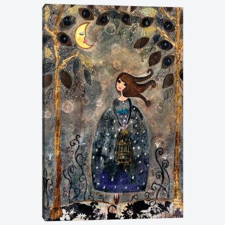 Big Eyed Girl It's Getting Late Canvas Print #WYA49} by Wyanne Art Print