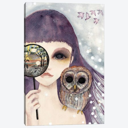 Big Eyed Girl See Canvas Print #WYA51} by Wyanne Canvas Wall Art