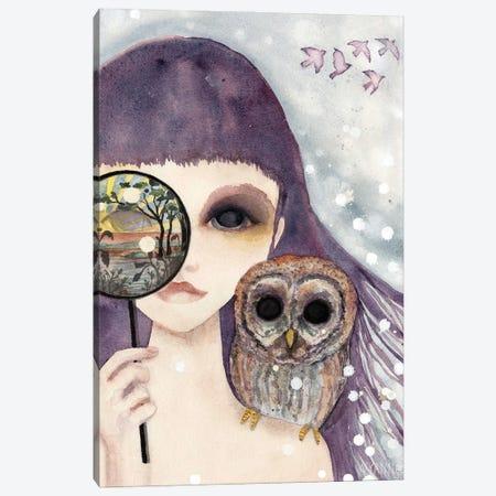 Big Eyed Girl See Canvas Print #WYA51} by Wyanne Canvas Wall Art