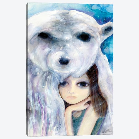 Big Eyed Girl Solitude Canvas Print #WYA52} by Wyanne Canvas Art
