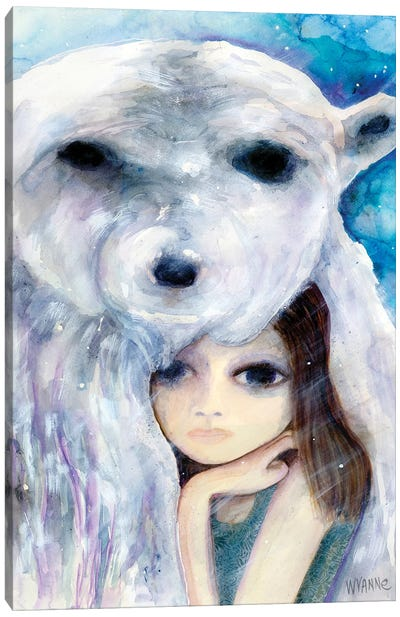 Big Eyed Girl Solitude Canvas Art Print