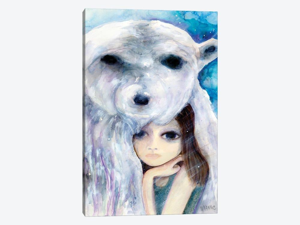 Big Eyed Girl Solitude by Wyanne 1-piece Canvas Art Print