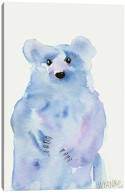 Blue Bear Canvas Art Print
