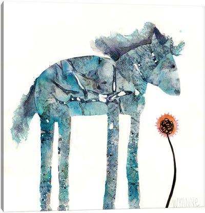 Blue Painted Pony Canvas Art Print