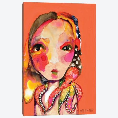 Clingy Shoulder Canvas Print #WYA61} by Wyanne Canvas Art Print