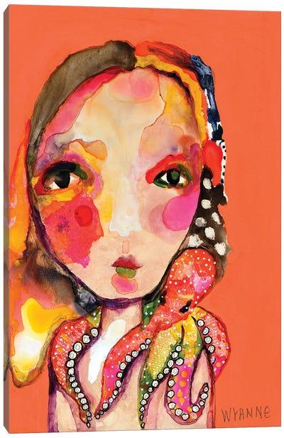 Clingy Shoulder Canvas Art Print