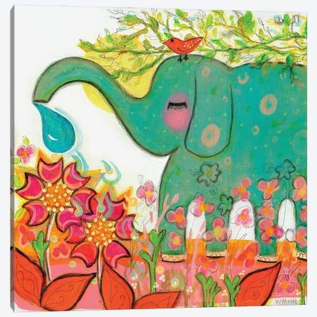 Connected - Elephant Canvas Print #WYA63} by Wyanne Canvas Print
