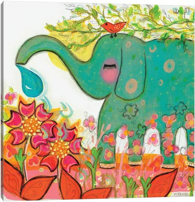 Connected - Elephant Canvas Art Print