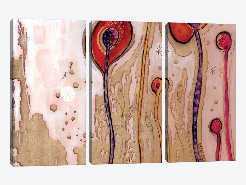 December Flowers by Wyanne 3-piece Canvas Wall Art