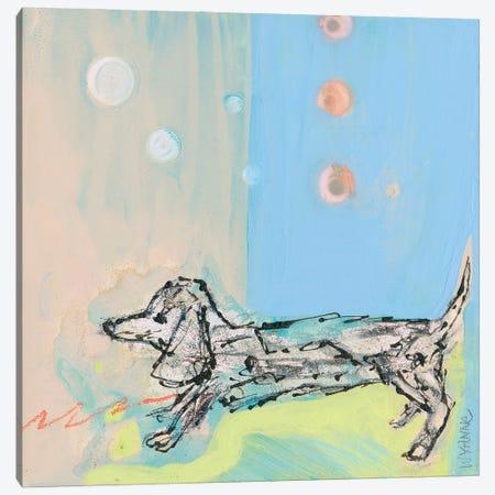Doxie Stretch Canvas Print #WYA68} by Wyanne Art Print
