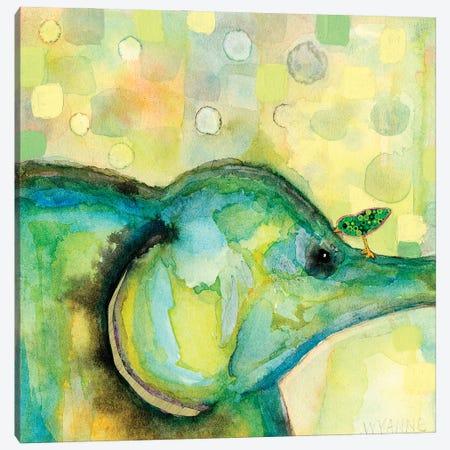 Eye To Eye Elephant Canvas Print #WYA70} by Wyanne Canvas Artwork