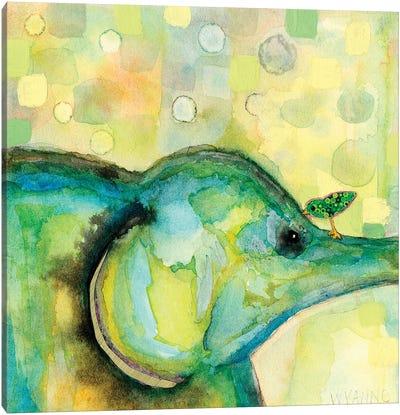 Eye To Eye Elephant Canvas Art Print