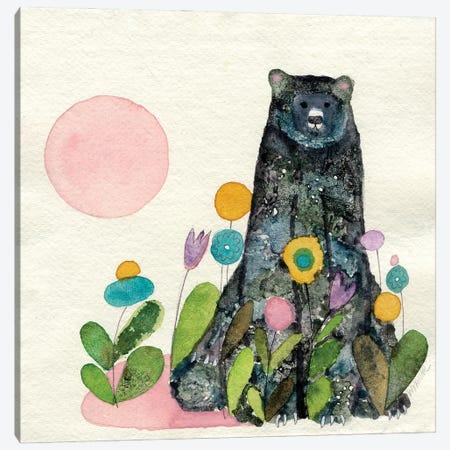 Garden Bear Canvas Print #WYA73} by Wyanne Canvas Artwork