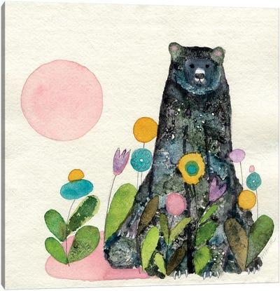 Garden Bear Canvas Art Print