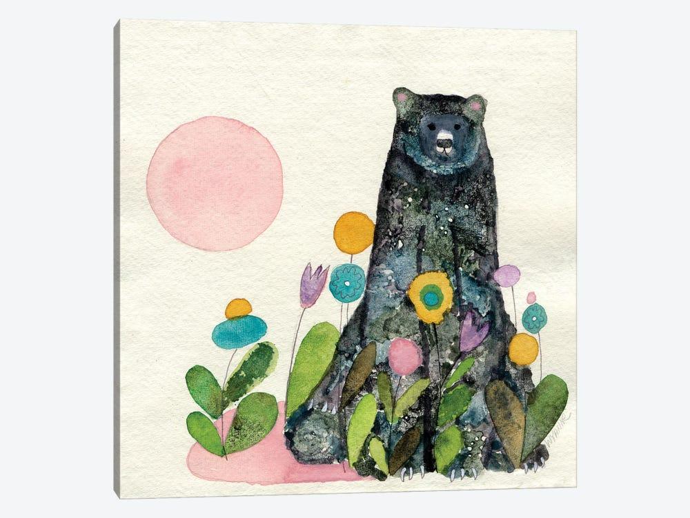 Garden Bear by Wyanne 1-piece Canvas Wall Art