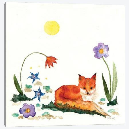 Little Fox In The Garden Canvas Print #WYA77} by Wyanne Canvas Print