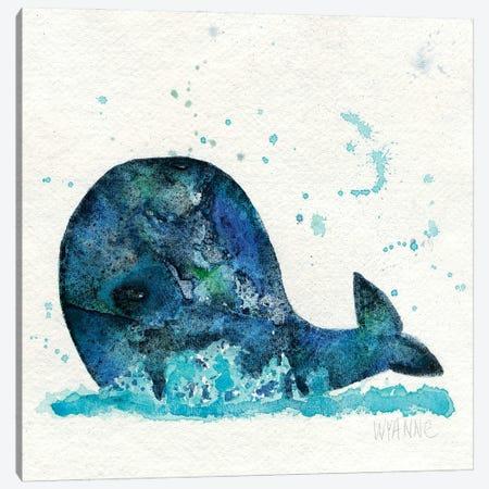 Little Whale Canvas Print #WYA78} by Wyanne Canvas Artwork