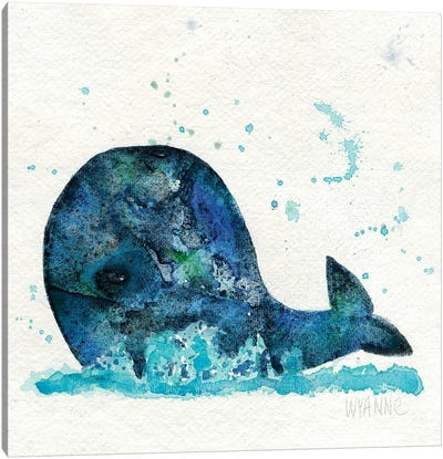 Little Whale Canvas Art Print