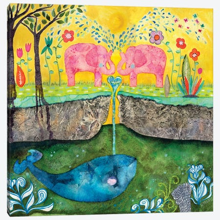 Love Always Flows Canvas Print #WYA79} by Wyanne Canvas Art