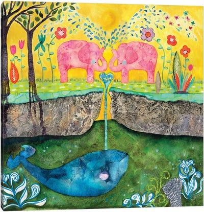 Love Always Flows Canvas Art Print