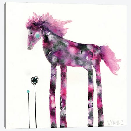 Pink Painted Pony Canvas Print #WYA88} by Wyanne Canvas Art Print