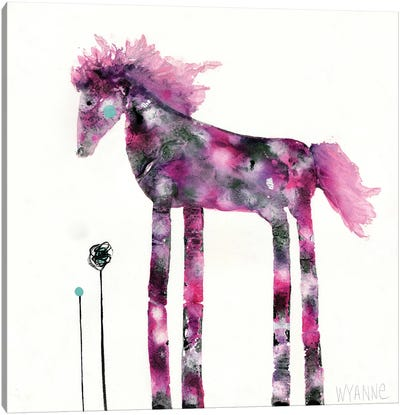 Pink Painted Pony Canvas Art Print