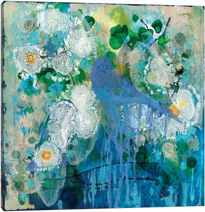 Bluebird Reflections Canvas Print #WYA8