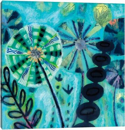 Retro Flowers Canvas Art Print
