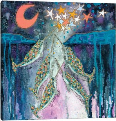 Stargazer Celebration Narwhals Canvas Art Print